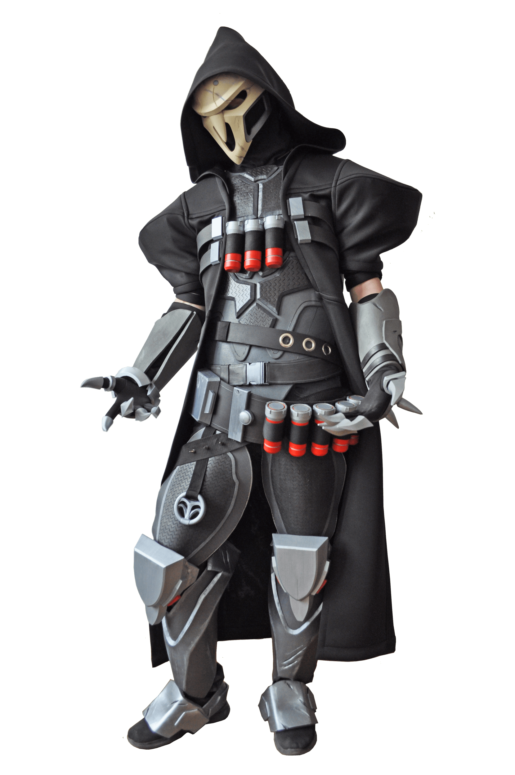 Over OW Reaper Cosplay Costume with mask black